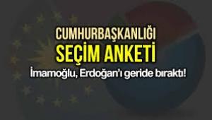 Cumhurbaşkanlığı seçim anketi: İmamoğlu, Erdoğan'ı geride bıraktı!