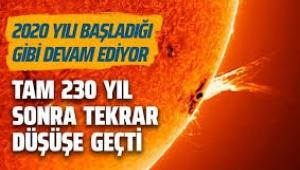 NASA kötü haberi duyurdu: Güneş solar minimum dönemine girdi