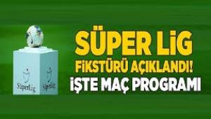 Süper Lig'de 5 haftalık program açıklandı
