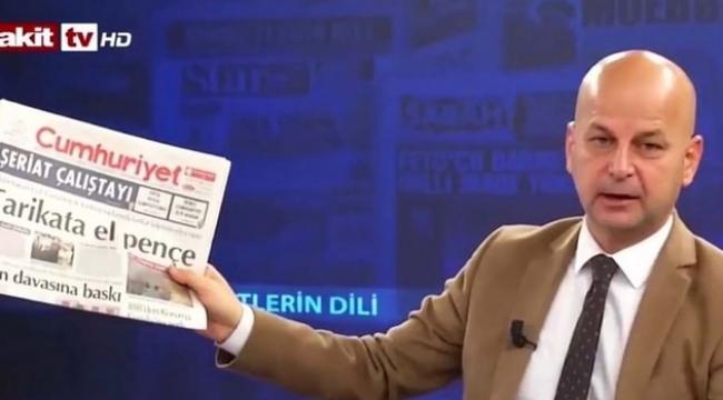 Cumhuriyet'e bomba atalım diyen Akit TV sunucusuna hapis talebi
