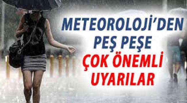 16 il için sel ve fırtına uyarısı