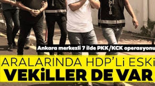 Ankara merkezli 7 ilde Kobani olayları operasyonu