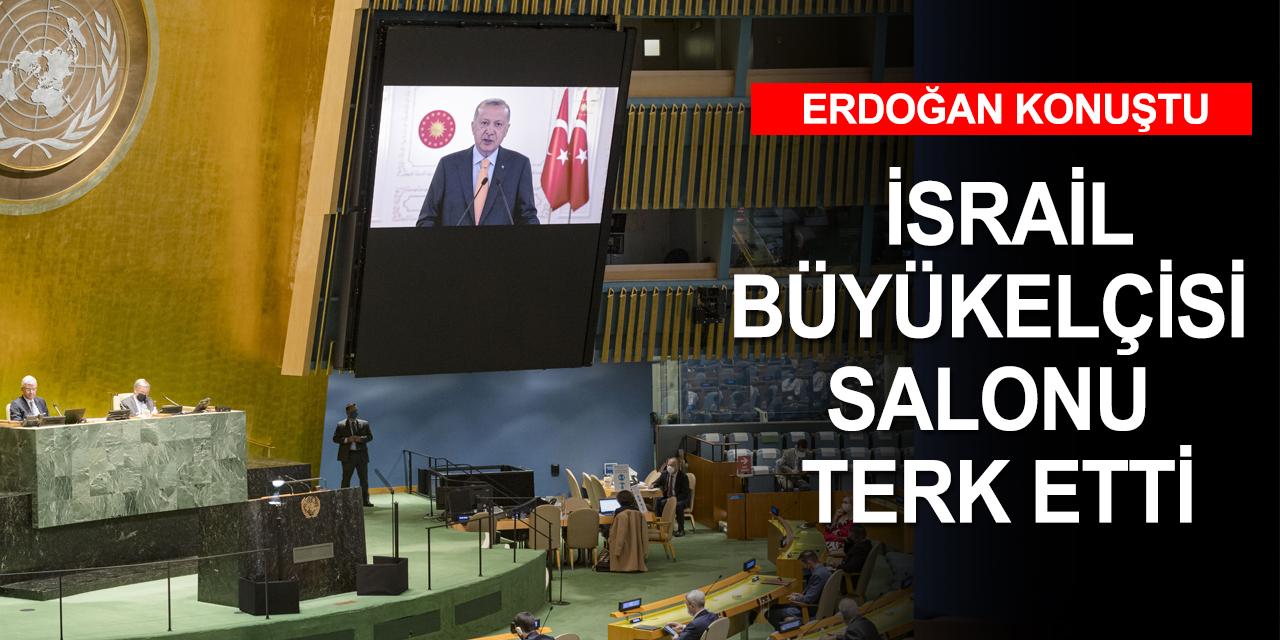Erdoğan konuştu, İsrail büyükelçisi salonu terketti