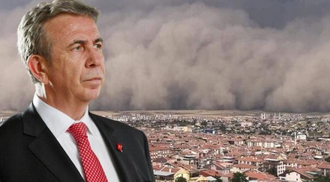 Mansur Yavaşa'tan Ankara'da yaşanan kum fırtınasıyla ilgili açıklama