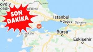 Marmara Denizi'nde 4.1 büyüklüğünde deprem!