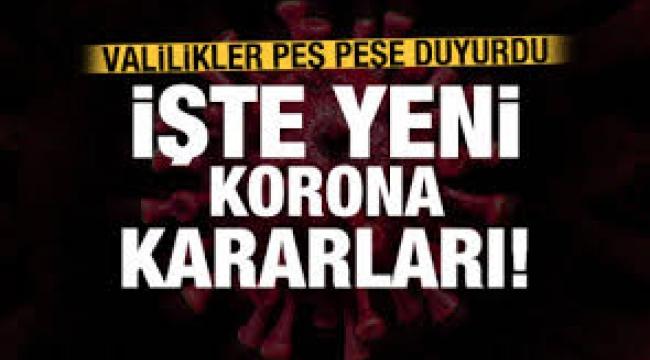 Türkiye genelinde yeni korona yasakları