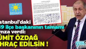 39 başkan, Ümit Özdağ'ın partiden ihracını talep etti