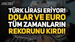 Türk lirası eriyor: Dolar 8 TL'nin üzerinde!