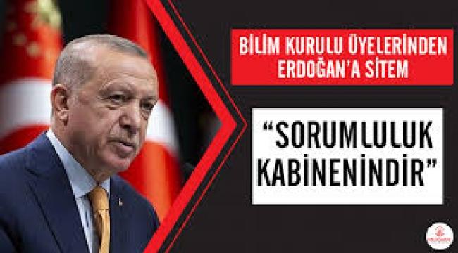 Bilim Kurulu üyelerinden Erdoğan'a sitem: Sorumluluk kabinenindir