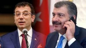 Fahrettin Koca'dan Ekrem İmamoğlu'na telefon