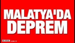 Malatya'da 4.7 büyüklüğünde deprem..