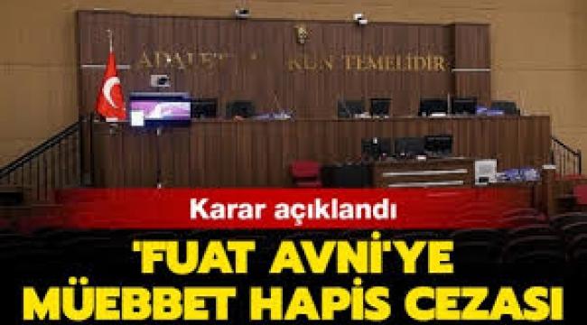 'Fuat Avni' hesabının kullanıcılarına müebbet
