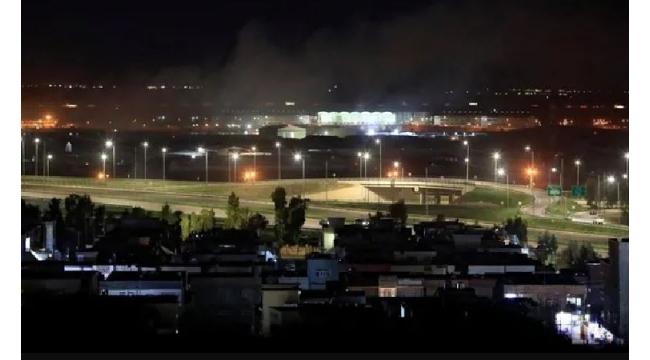 Erbil'de ABD üssünün olduğu bölgeye füzeli saldırı