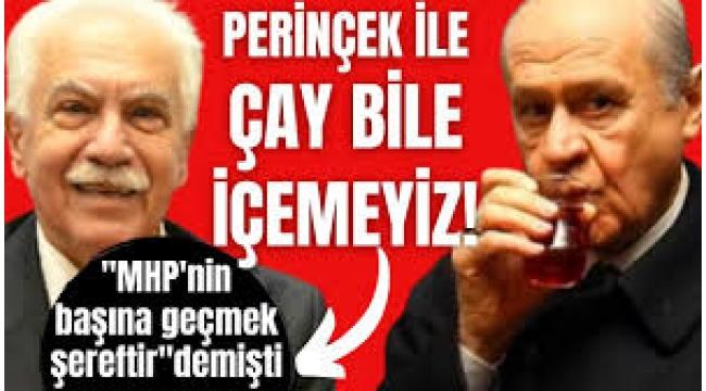 """Vatan Partisi Genel Başkanı Doğu Perinçek'in """"MHP'nin başına geçmek şereftir"""" sözlerine partiden yanıt: Çay içmemiz bile mümkün değildir"""