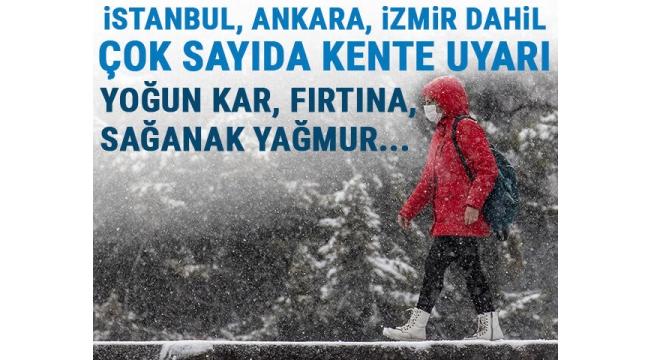Yoğun kar, kuvvetli rüzgar...