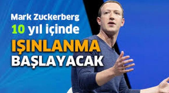 Facebook CEO'su insanların işe ışınlanarak gideceği tarihi açıkladı