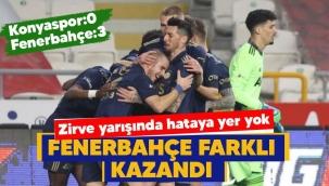 Fenerbahçe Konya'da farklı kazandı