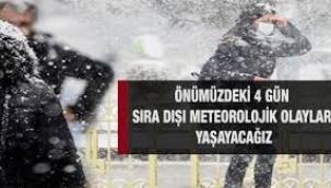'Sıra dışı meteorolojik olaylar' açıklaması! Salı günü kar geliyor