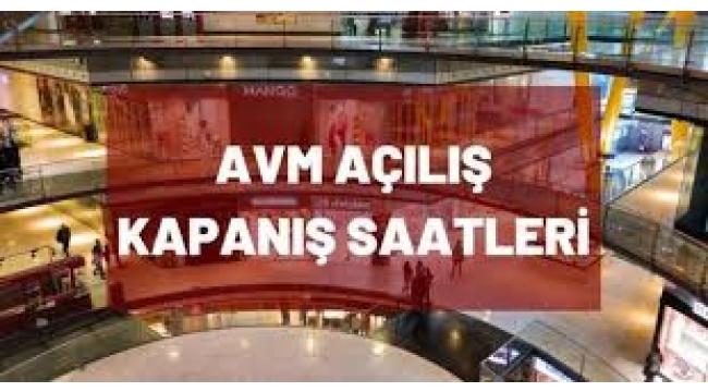 İstanbul'da AVM'ler ve mağazaların kapanış saati değişti