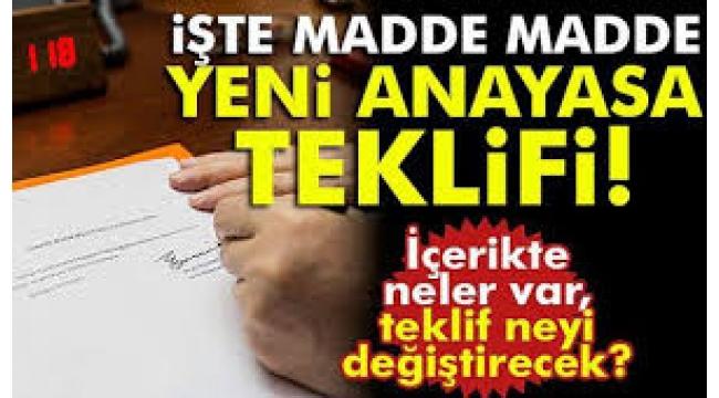 AK Parti'nin yeni anayasa teklifi belli oldu