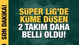 Ankaragücü ve Erzurumspor küme düştü!