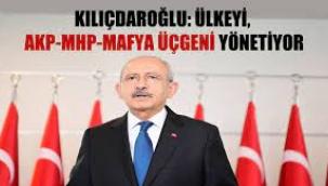 Kemal Kılıçdaroğlu: Ülkeyi AKP-MHP- mafya üçgeni yönetiyor
