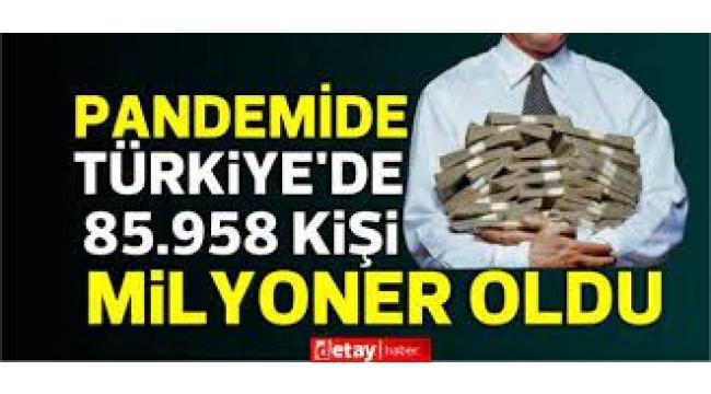 Pandemide Türkiye'de 85 bin 958 kişi milyoner oldu