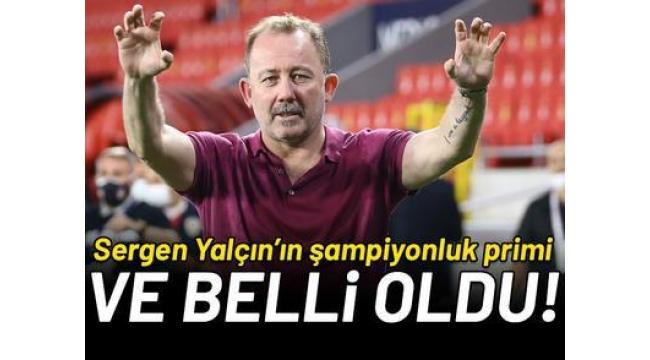 Beşiktaş'ta Sergen Yalçın'ın şampiyonluk primi 5 milyon lira