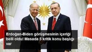 Erdoğan-Biden görüşmesi  Masada 5 kritik konu başlığı var