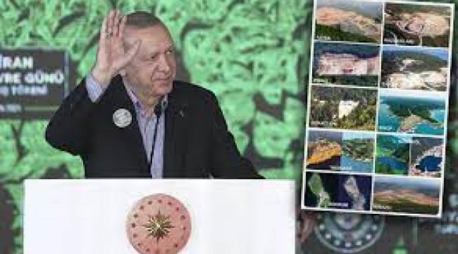 """Erdoğan, """"Görevi devraldığımda ağaç mağaç yoktu"""" dedi"""