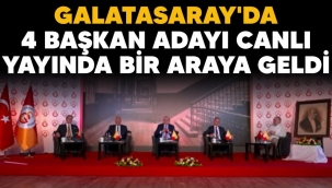 Galatasaray'da 4 başkan adayı canlı yayında