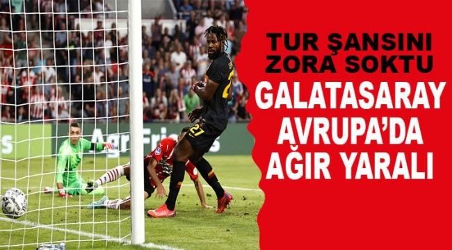 Galatasaray, PSV'ye farklı kaybetti; tur şansını zora soktu