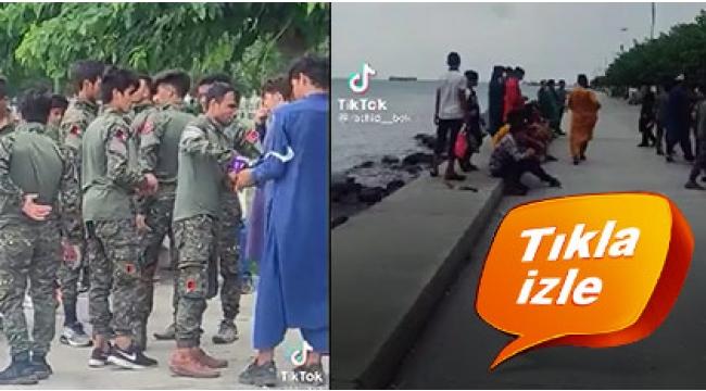 Kim bu İstanbul'un sahilindeki üniformalı Afganlar