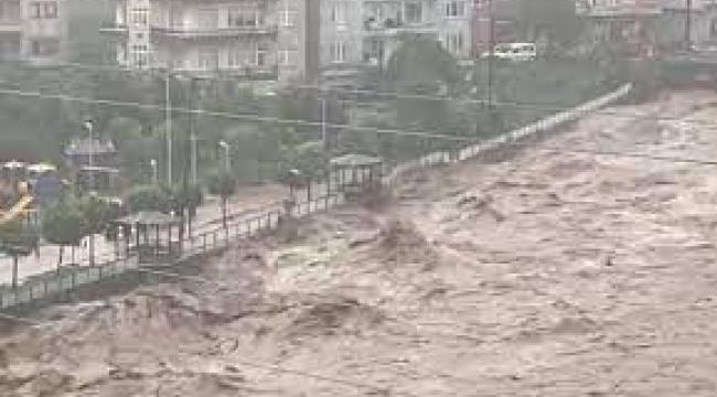 Rize ve Artvin'de sel ve heyelan; dereler taştı, evler ve araçlar su altında kaldı