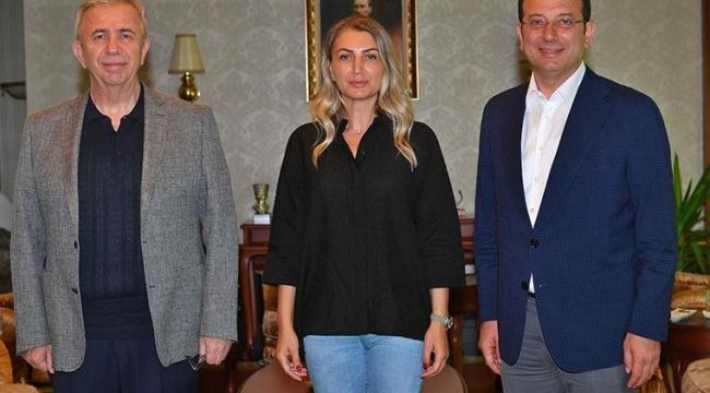 Mansur Yavaş, İBB Başkanı Ekrem İmamoğlu ve Dilek İmamoğlu'nu ağırladı