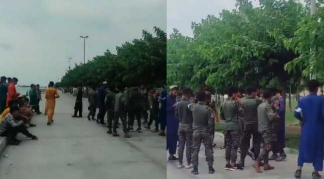 Zeytinburnu'nda asker kıyafetiyle dolaşan düzensiz Afgan göçmenler 'muhafaza' altına alındı