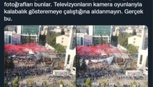 CHP'li Öztunç Paylaştı: Erdoğan'ın Şok Eden Miting Fotoğrafları