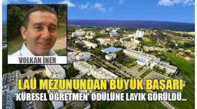"""""""KÜRESEL ÖĞRETMEN"""" ödülüne Volkan İNER ...."""