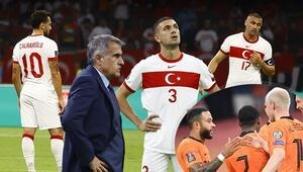 """Spor yazarları, 6-1 kaybedilen Hollanda maçını değerlendirdi: """"Böyle korkaklık, böyle acizlik, böyle çaresizlik olamaz!"""""""