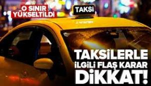 Taksilerde flaş değişiklik! Yaş sınırı 68'e yükseltildi