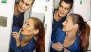 Uçakta herkesin içinde ilişkiye girdiler! Sosyal medya birbirine girdi!