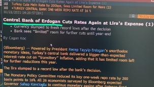 Bloomberg, faiz kararını böyle duyurdu: 'Erdoğan Merkez Bankası'
