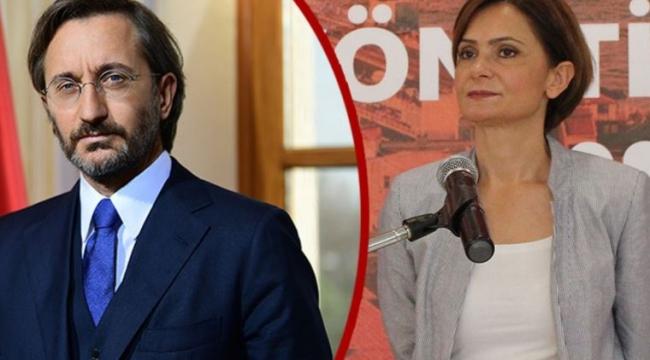 Canan Kaftancıoğlu hakkında, Fahrettin Altun'a hakaretten iddianame