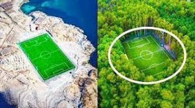 Dünyanın en ilginç futbol sahaları