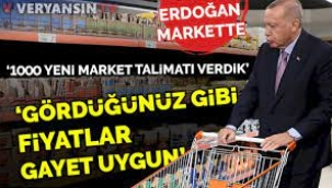Erdoğan market alışverişinde: Fiyatlar gayet uygun!