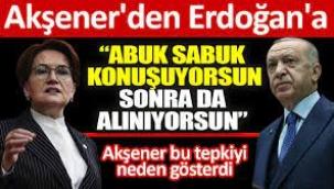 Meral Akşener'den Erdoğan'a: Abuk sabuk konuşuyorsun