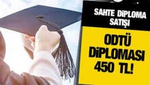 Sahte diploma satışı: ODTÜ diploması 450 TL'ye satılıyor!
