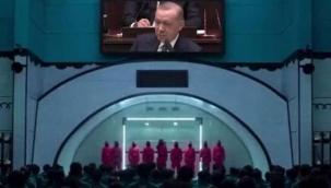 TİP'ten Erdoğan'a 'Squid Game' temalı gönderme