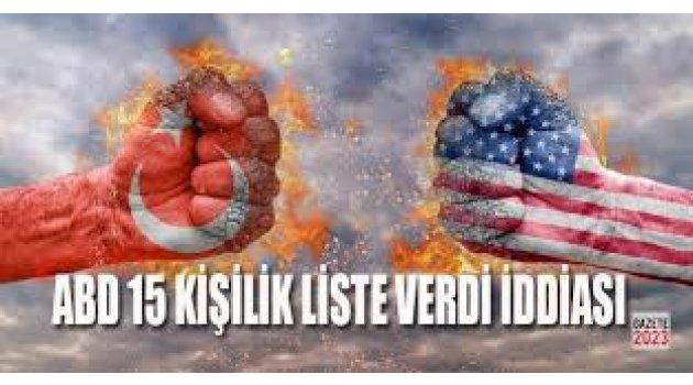 ''ABD, Türkiye'ye 15 kişilik liste verdi; aralarında Demirtaş da var''