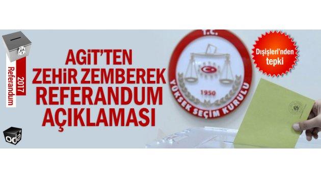 AGİT'ten referandum açıklaması geldi